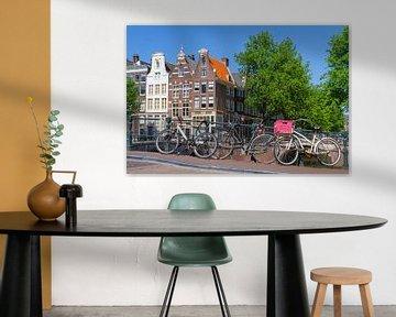 Amsterdamse huizen aan de gracht