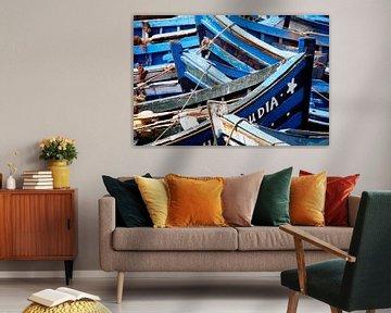 Blue boats von Jody Gouda