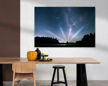 Les rayons lumineux et la Voie Lactée sur Oliver Henze