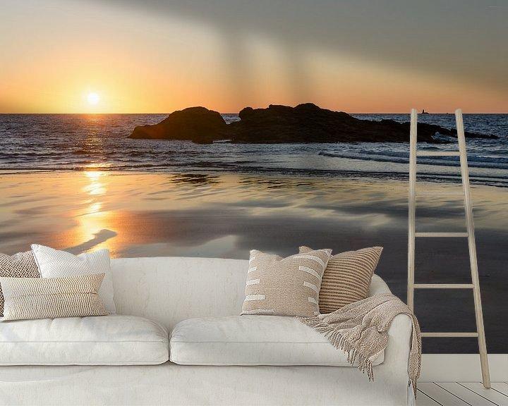 Beispiel fototapete: Sonnenuntergang am Strand von Mark Bolijn