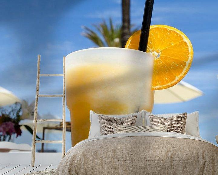Sfeerimpressie behang: Cocktail bij de beachclub van Mark Bolijn