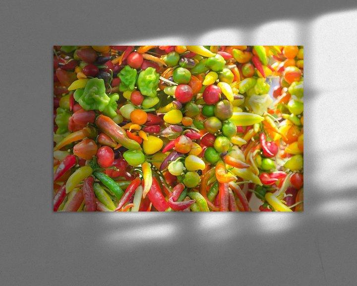 Sfeerimpressie: Kleurrijke pepers van Mark Bolijn