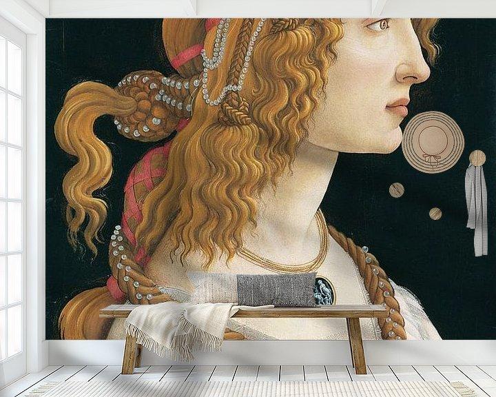 Beispiel fototapete: Porträt einer jungen Frau, Sandro Botticelli