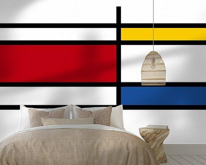 Beispiel fototapete: Piet Mondrian Kunst 3 von Marion Tenbergen