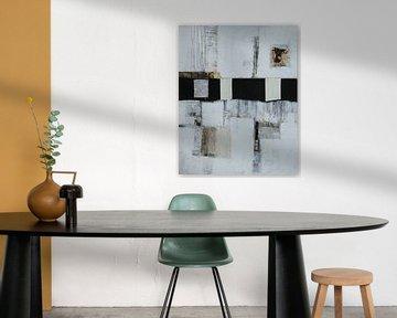 Strukturbild in Grau Nr.3 von Claudia Neubauer