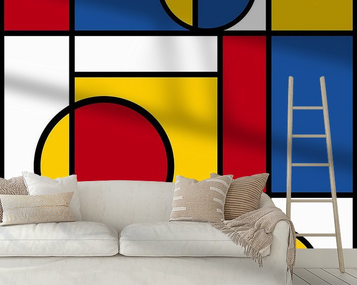 Beispiel fototapete: Piet Mondrian Kunst 4 von Marion Tenbergen