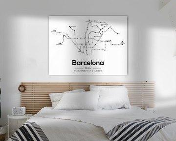 Barcelona Metrolijnen van MDRN HOME
