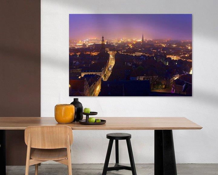 Impression: Zutphen au lever du soleil sur Arnold van Rooij