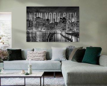 NEW YORK CITY Skyline | Monochrom von Melanie Viola