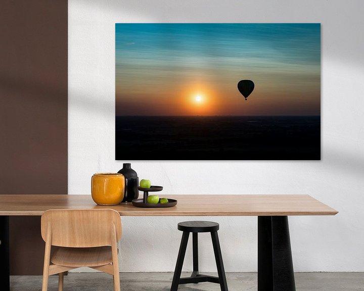 Sfeerimpressie: Ballonvaart zonsondergang van Elly Damen