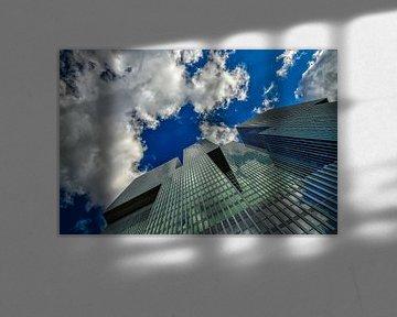 """Spiegelnde Fassade von """"De Rotterdam"""" von Leon Okkenburg"""
