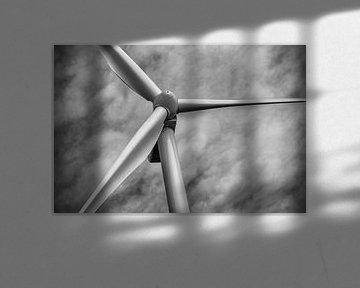 Windmühle Maasvlakte von Leon Okkenburg