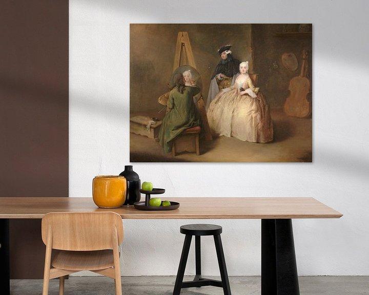 Beispiel: Der Maler in seinem Atelier, Pietro Longhi
