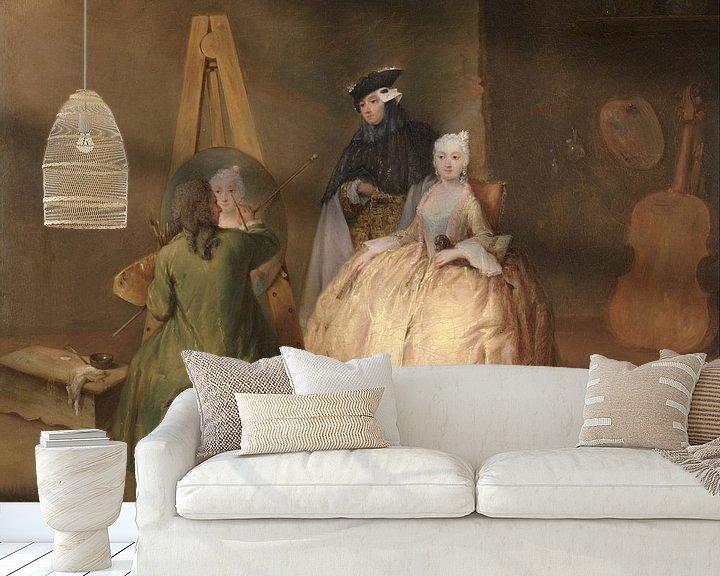 Beispiel fototapete: Der Maler in seinem Atelier, Pietro Longhi