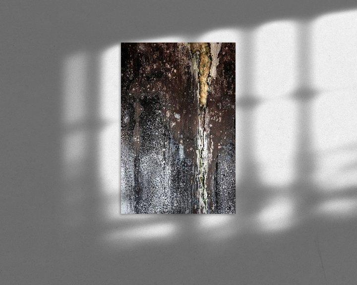 Sfeerimpressie: detail vervallen muur fabriek urbex van Martzen Fotografie