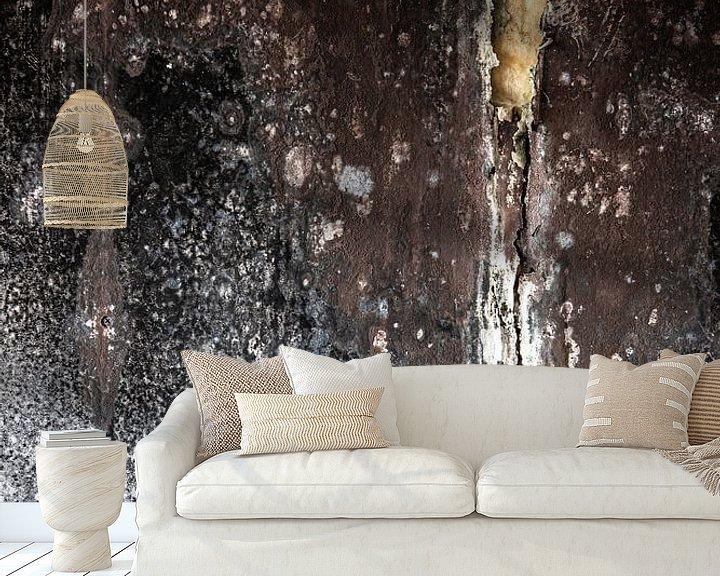 Sfeerimpressie behang: detail vervallen muur fabriek urbex van Martzen Fotografie