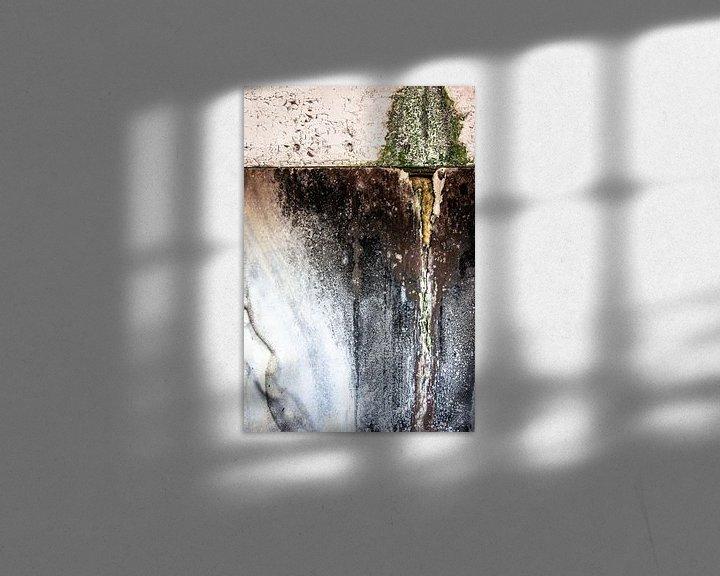Sfeerimpressie: detail vervallen muur oude fabriek urbex van Martzen Fotografie