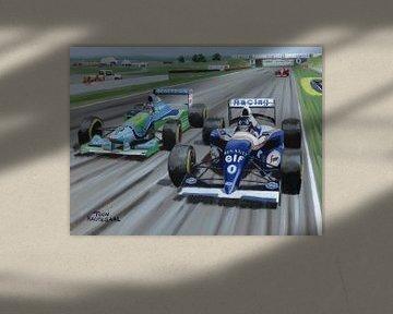 1994 Britse Grand Prix op het circuit van Silverstone van Adam's World
