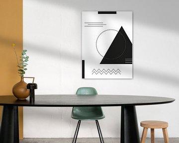 Geometrische Formen in Schwarz-Weiß von MDRN HOME