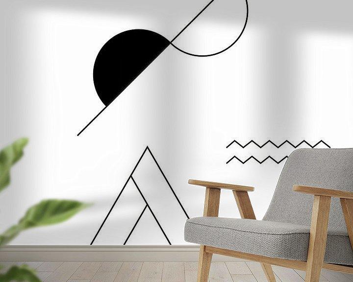 Sfeerimpressie behang: Abstract, Geometrisch Landschap van MDRN HOME