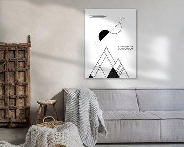 Abstrakt, Geometrische Landschaft von MDRN HOME