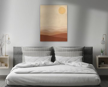 Verbrannte orangefarbene Landschaft von MDRN HOME