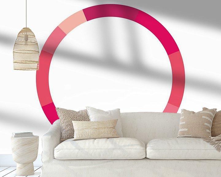 Impression: Monochrome Schéma de couleurs Rose sur MDRN HOME