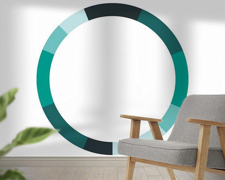 Sfeerimpressie behang: Monochromatisch Kleurenschema Groen van MDRN HOME