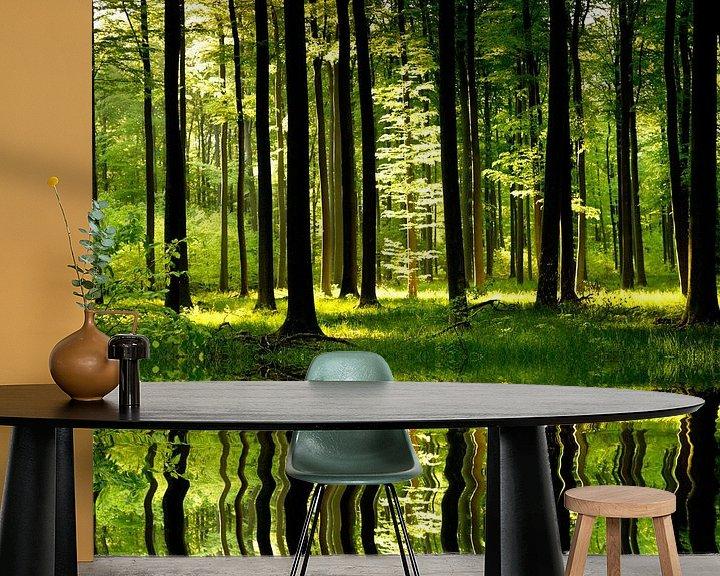 Sfeerimpressie behang: Forest Magic van Renate Knapp