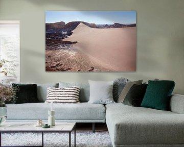 Paysage du désert d'Atacama près de San Pedro de Atacama, région d'Antofagasta, Chili sur Tjeerd Kruse