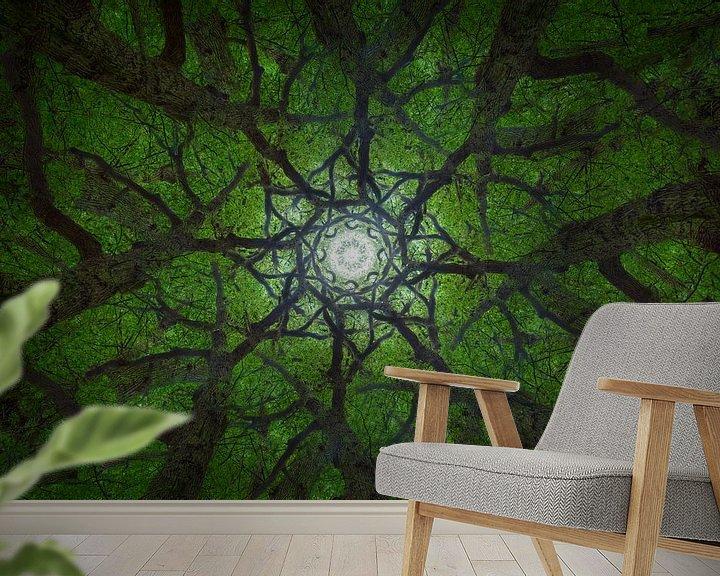 Sfeerimpressie behang: Mandala Trees (2) van Mark Scheper