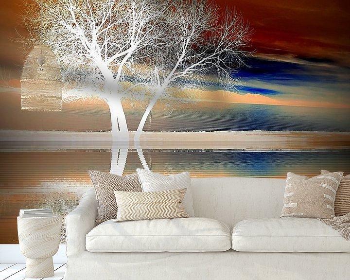 Sfeerimpressie behang: Winter boom van Renate Knapp