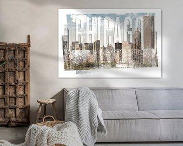 CHICAGO Skyline | Vintage von Melanie Viola
