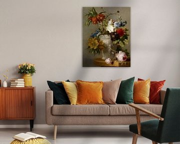 Ein Arrangement mit Blumen, Georgius Jacobus Johannes van Os