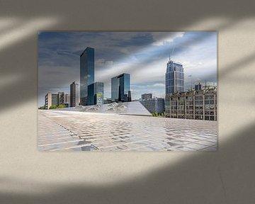 Blick vom Dach von Rotterdam CS von Annette Roijaards