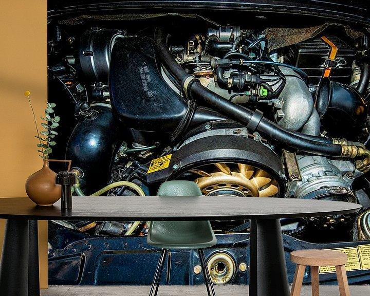 Sfeerimpressie behang: Porsche Luchtgekoelde Motor van Brian Morgan