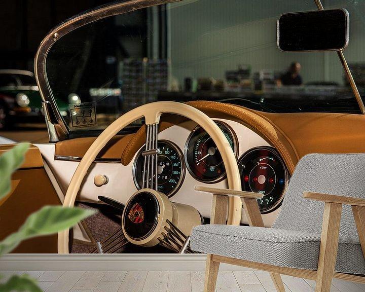 Sfeerimpressie behang: Porsche Dashboard van Brian Morgan
