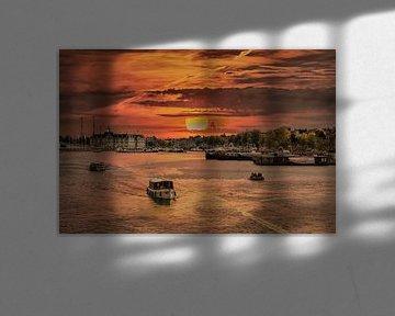 Sonnenuntergang, Amsterdam, Niederlande von Maarten Kost
