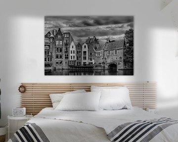 Delfshaven, Rotterdam, Die Niederlande, S/W von Maarten Kost