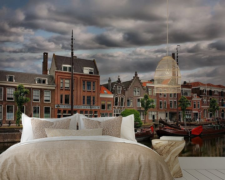 Sfeerimpressie behang: Delfshaven, Rotterdam, The Netherlands van Maarten Kost