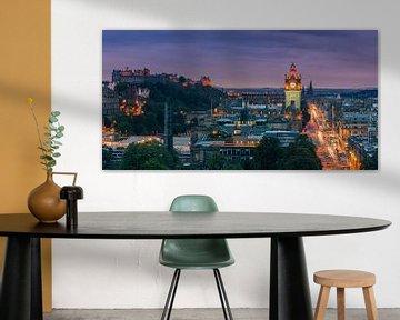 Abend über Edinburgh, vom Calton Hill aus gesehen von Henk Meijer Photography