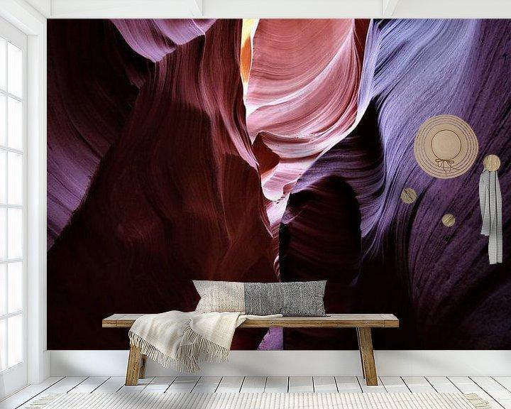 Sfeerimpressie behang: Lichtspeling in Antilope Canyon Arizona USA van Paul Franke