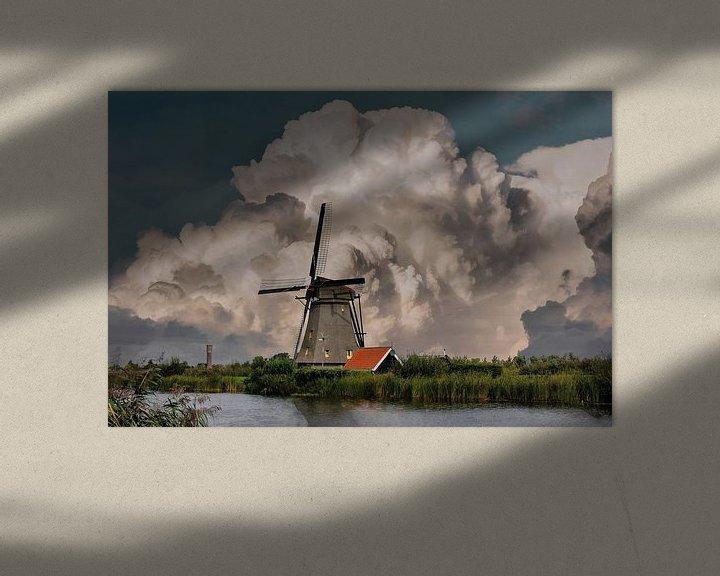 Sfeerimpressie: Kinderdijk Mills, Kinderdijk, The Netherlands van Maarten Kost