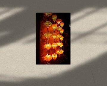 Lampionnen in Hoi An van Karel Ham