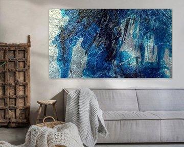 Experiment in Schwarz, Weiß und Blau von Anita Snik-Broeken