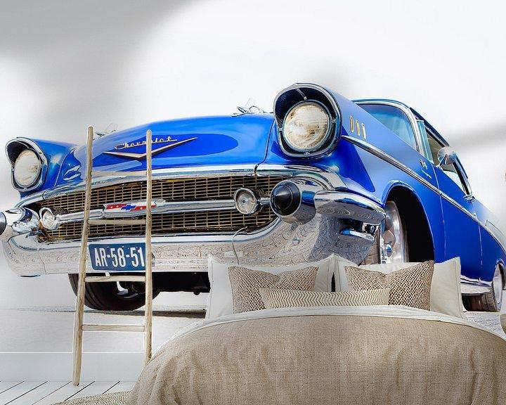 Sfeerimpressie behang: CHEVROLET BEL AIR 1957 van marco de Jonge