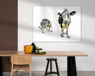 Grappige koe van Peter Roder