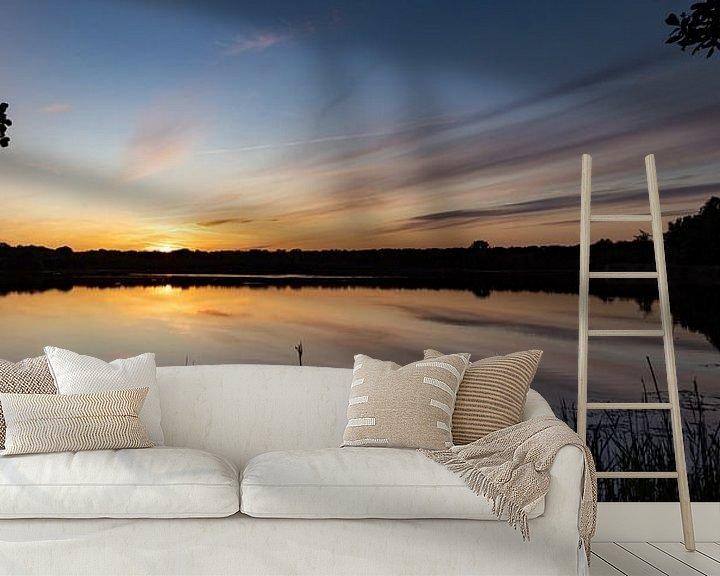 Beispiel fototapete: Roegwold Sonnenuntergang. von Anjo ten Kate