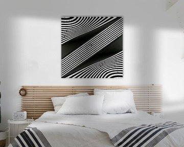 Geometrische Linien - Metall Art II von Christine Nöhmeier