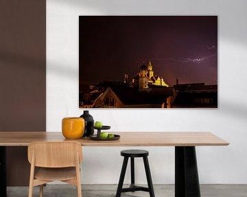 Kasteel Sigmaringen - Onweer en blikseminslag - van Jiri Viehmann
